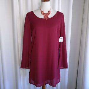NWT Charlotte Russe Wine Shift Dress Size Medium